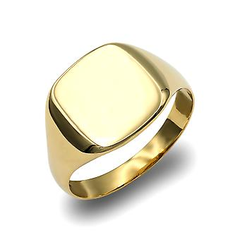Jewelco London Men's Solid 9ct Yellow Gold Square Cushion Signet Ring Jewelco London Men's Solid 9ct Yellow Gold Square Cushion Signet Ring Jewelco London Men's Solid 9ct Yellow Gold Square Cushion Signet Ring Jewelco