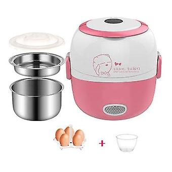 Mini Rice Cooker, Termisk uppvärmning elektrisk lunchlåda, bärbar matångare,