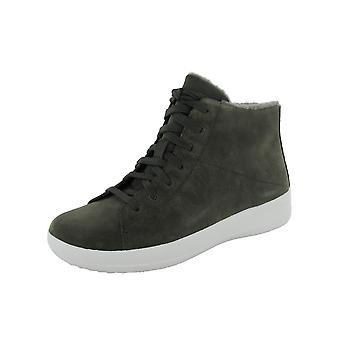 Fitflop Zapatos de zapatillas deportivas F-Sporty High Top Suede Sneaker Shoes