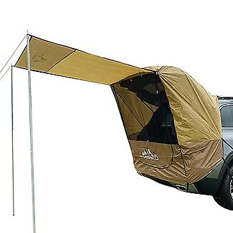 1pc Car Truck Tent Sunshade Rainproof Support Rod Anti UV Tent Side Awning SUV MPV Car Tent(khaki)