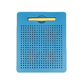 S blue plastic steel ball magnetic drawing board children's toy az5183