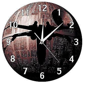 نجم الموت سفينة الفضاء الجدار ساعة az18117