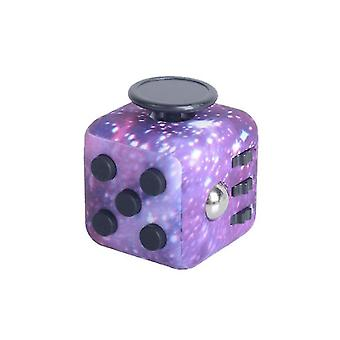 Purple six-sided decompression rubik's cube relieve stress finger sports toy dt5669