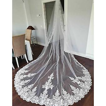 Hoge kwaliteit nette kant lange 4 meter bruiloft sluier