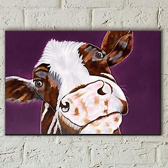 Tuile 8x12 Soppy Vache Par Sam Fenner Wall Art