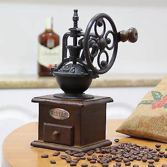Vintage Manual Coffee Grinder Wheel Design Coffee Bean Mill Grinding Machine