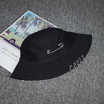 Summer Ring Bucket Hat Outdoor Wear, Women(Black9)
