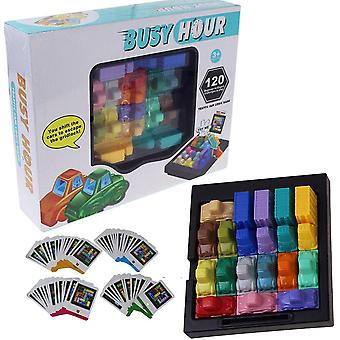 Fun Rush Hour Traffic Jam Logic Game Toy For Boys Girls Puzzle Game Busy Hour