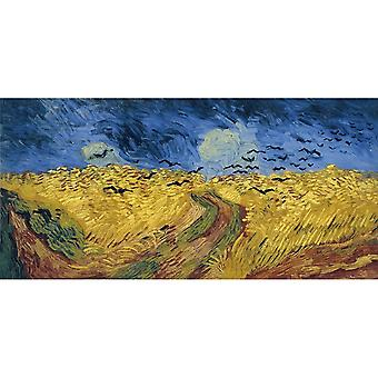 Wheatfield With Crows,vincent Van Gogh Art Reproduction.impressionism Modern Hd Art Print Poster, Canvas Prints Wall Art For Home Decor Pictures