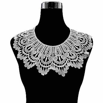 Hollow Half Shirts Embroidery False Collar Water Soluble Lace Silk Detachable Blouse