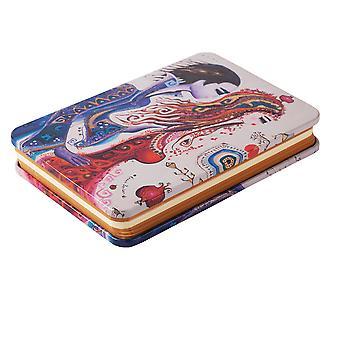 Biggdesign Love Metal Cover Notepad, Metal Cover, Pocket Agenda, 130 Feuilles, Notebook, Unlined
