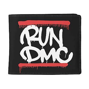 Run DMC Wallet Graffiti Band Logo new Official Black Bifold