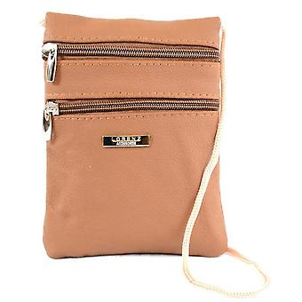 Ladies Small Leather Corded Pouch
