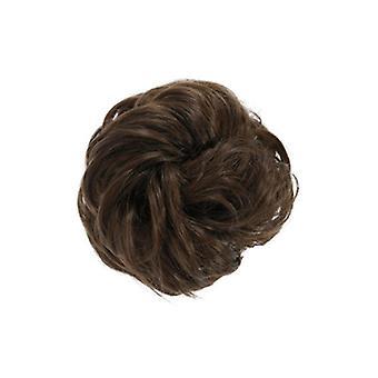3 PCs flequillo de pelo sintético rubio moño desordenado anillo de extensión rizado chignon adornos de urdimbre de postizo
