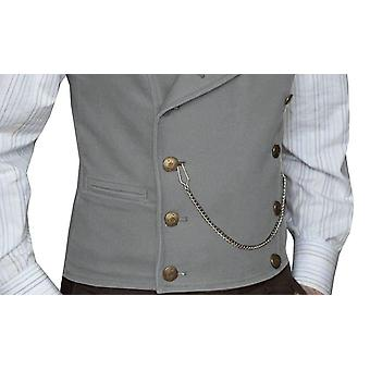 Mens Suit Vest Lapel Neck Wool Waistcoat