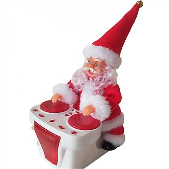 Evago Electric Santa Riding Drums With Music Children's Toys Gift For Kids (no Batteries)