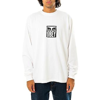 T-shirt uomo obey eyes icon 3 heayweight tee l/s 167102712.wht