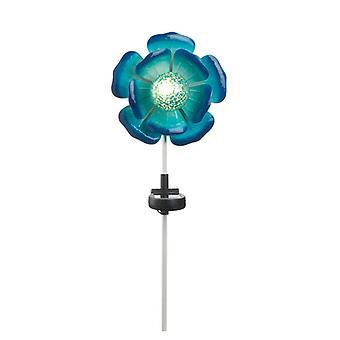 Summerfield Terrace Solar Lighted Garden Stake - Blue Flower, Pack of 1