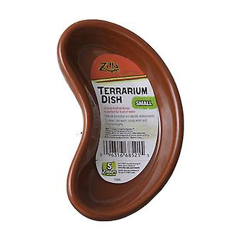 """Zilla Kidney Shaped Terrarium Dish - Food or Water - Small - 4"""" Long - (Assorted Colors)"""