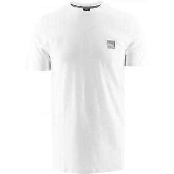 BOSS Bianco Girocollo Cotone Organico Tales 1 T-Shirt