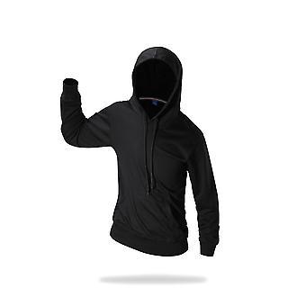 Classic Plain Pouch Pocket Overhead Hoodie Sweatshirt