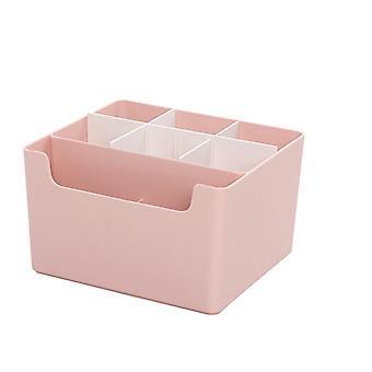שולחן העבודה נייר מכתבים Organizer איפור תיבת אחסון קוסמטיקה מיכל קופסאות פלסטיק לאחסון