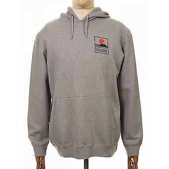 Edwin Jeans Solnedgång På Mt Fuji Hooded Sweatshirt - Mid Grey Marl