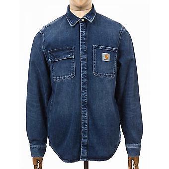 Carhartt WIP Salinac paita takki - sininen mid kulunut pesu