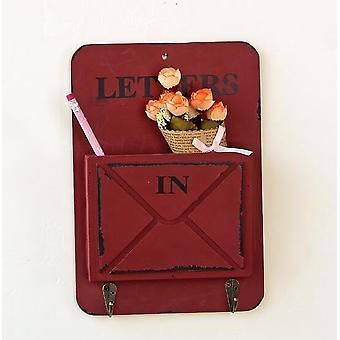 Nieuwe mode houten opslag haak rekken vintage houten brief houder doos jas hoed kleding robe sleutel