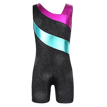 Girls Gymnastics Leotard Sports Jumpsuit Gym Swimsuit Bodysuit