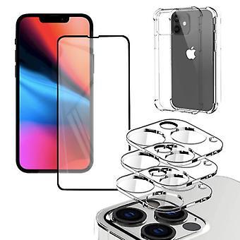 Iphone 13 [5-PACK] Objektivabdeckung, gehärtetes Glas, Silkon Shell