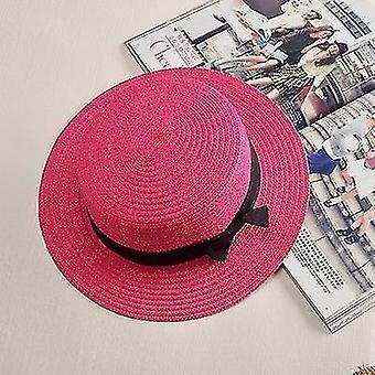 Damen Panama Sommer Strandmütze (56-58cm)(Pflaumenrot 1)