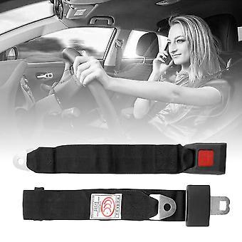 Universal Black Car Seat Belt Lap Belt Two Point Adjustable Safety