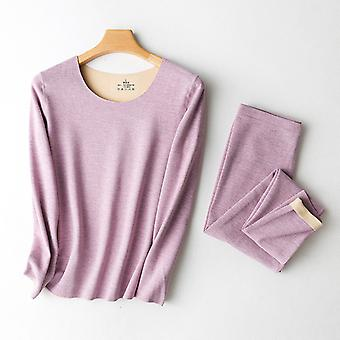 Womens Thermal Underwear Set Base Layer Fleece Lined Soft Top Bottom