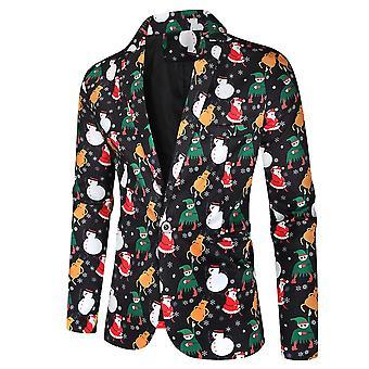 Mile Mens Funny Novelty Xmas Jacket Costume, Ugly Christmas Suit Black