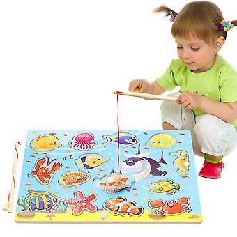 子供の磁気釣りおもちゃ木製教育赤ちゃんの教育玩具