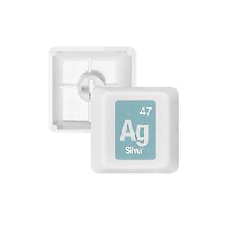 Ag Silver Keycap  Keyboard