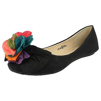 Ladies Update Slip On Ballerina Shoes L4922