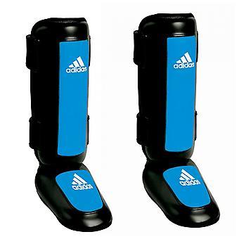 Adidas Pro stil kickboksing Shin gap vakter - svart/blå