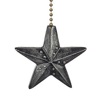 Black Barn Star Decorative Ceiling Fan Light Dimensional Pull