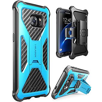 i-Blason Galaxy S7 Edge Prime Series Stand Case and Holster  - Blue