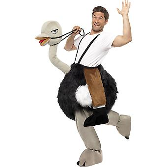 Strauss en rider huisdier kostuum pluche dierentuin dierlijke struisvogel kostuum