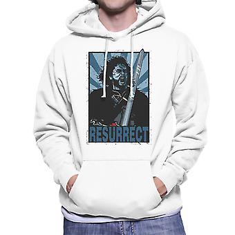 Resurrect Jon Snow Zombie Game Of Thrones Men's Hooded Sweatshirt