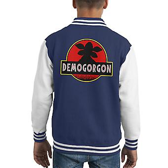 Demogorgon Jurassic Park Stranger Things Kid's Varsity Jacket