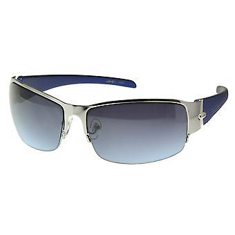 X-Loop Metal Wide Half Frame Sport Sunglasses