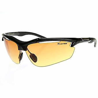 HD X-Loop Sunglasses Wide Half Frame Semi-Rimless Sports Wrap w/ HD Vision Lens