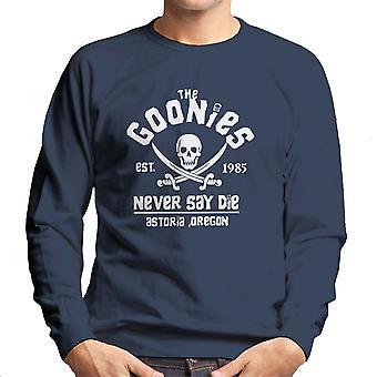 The Goonies Never Say Die Skull Logo Men's Sweatshirt