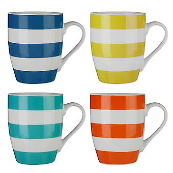 Premier Housewares Set de 4 Mugs Stripe