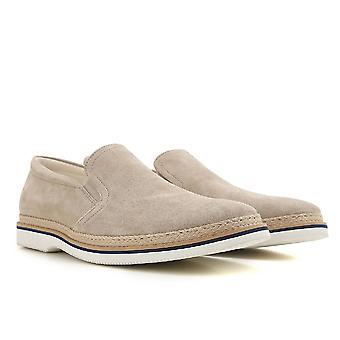 Hogan mænds slip-ons hyttesko sko i beige ruskind