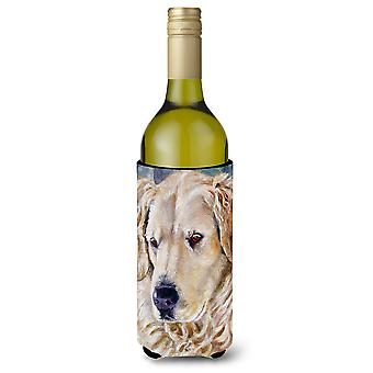 Golden Retriver kontemplacji wino butelka napoju izolator Hugger